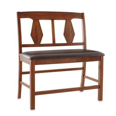 Steve Silver Co. Lakewood Counter Bench in Oak/Brown