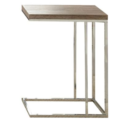 Steve Silver Co. Lucia Chairside End Table in Brown