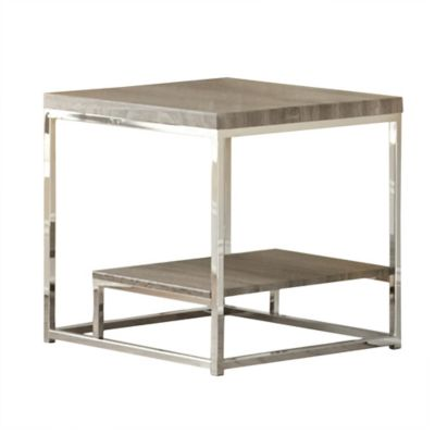 Steve Silver Co. Lucia End Table in Grey
