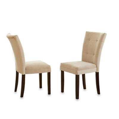 Steve Silver Co. Matinee Side Chairs in Beige (Set of 2)
