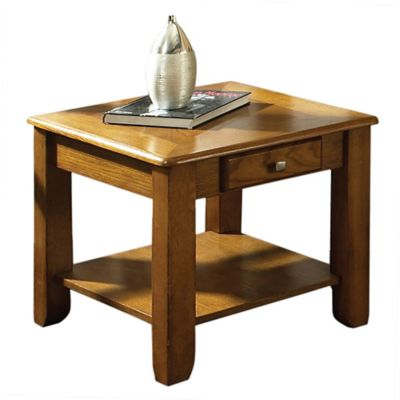 Golden Oak End Table