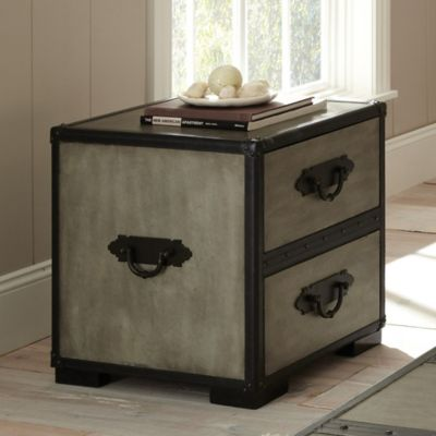 Steve Silver Co. Rowan End Table in Grey