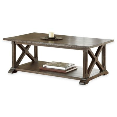Steve Silver Co. Southfield Cocktail Table in Pine