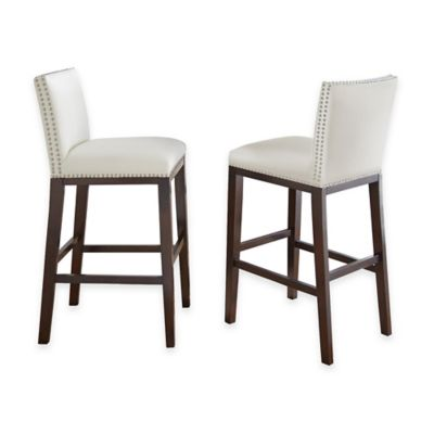 Steve Silver Co. Tiffany Bar Stools in White (Set of 2)