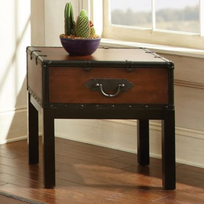 Steve Silver Co. Voyage End Table in Cherry