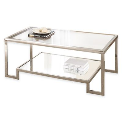 Steve Silver Co. Churchill Cocktail Table in Chrome