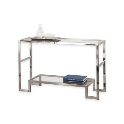Steve Silver Co. Churchill Sofa Table in Chrome