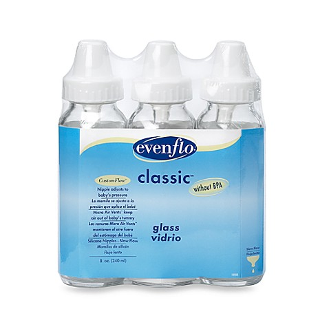 Evenflo® 8-Ounce Glass Bottles (Set of 3), BPA Free
