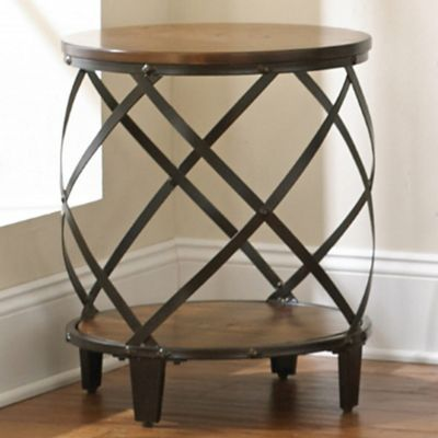 Steve Silver Co. Winston Round End Table in Cherry