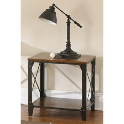 Steve Silver Co. Winston Square End Table in Cherry