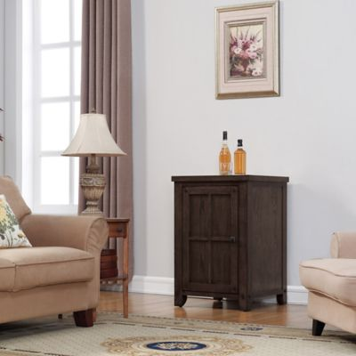 Bell'O® Dakota Wine Cooler Left Pier in Premium Oak