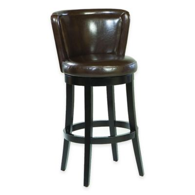 Aida 30-Inch Barstool in Brown Leather