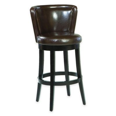 Aida 26-Inch Barstool in Brown Leather