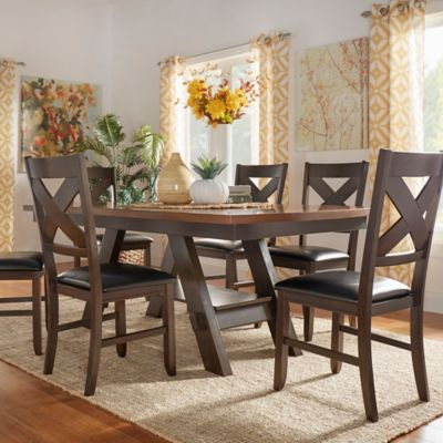 Verona Home Dunleigh 5-Piece Two-Tone Dining Set in Brown
