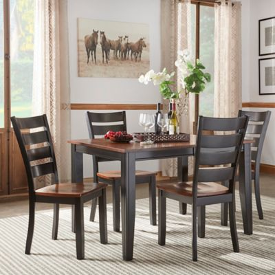 Verona Home Sierra Valley 5-Piece Dining Set in Black/Cherry