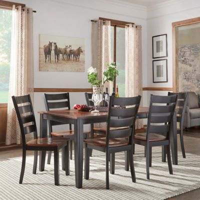 Verona Home Sierra Valley 7-Piece Dining Set in Black