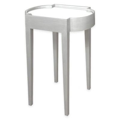 Progressive Furniture Suri Chairside Table in Brushed Silver