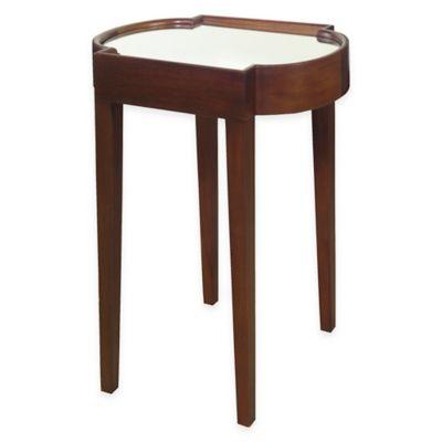 Progressive Furniture Suri Chairside Table in Chocolate Brown