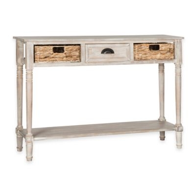 Safavieh Christa Console Table in Winter White