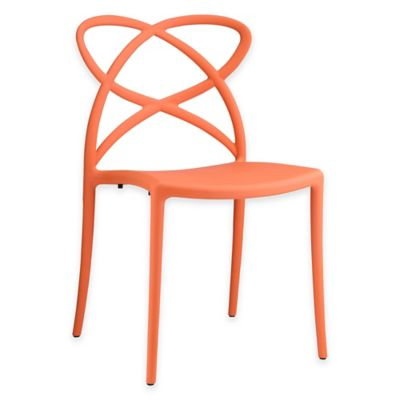Modway Enact Dining Side Chair in Orange