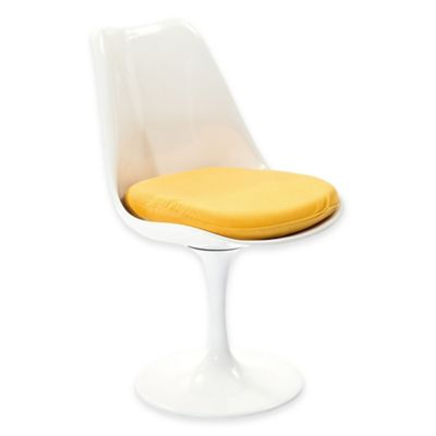 Modway Lippa Dining Side Chair in White/Yellow
