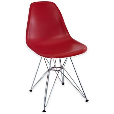 Modway Paris Dining Side Chair in Red