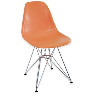 Modway Paris Dining Side Chair in Orange