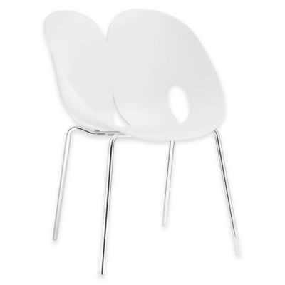 Modway Envelope Dining Side Chair in White