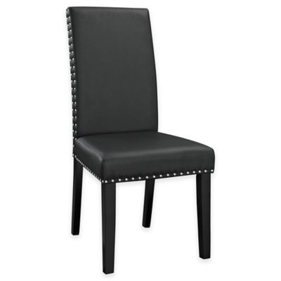 Modway Parcel Dining Vinyl Side Chair in Black