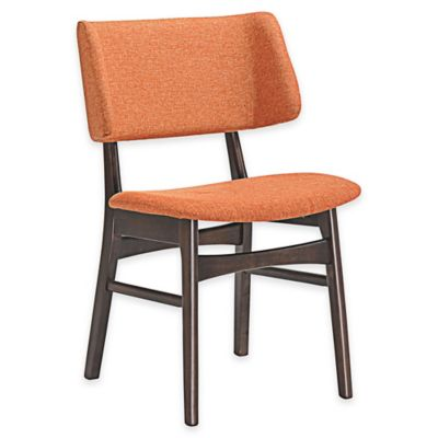 Modway Vestige Dining Side Chair in Orange/Brown