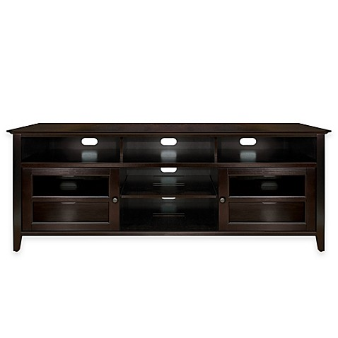 bell 39 o 75 inch tv stand in dark espresso bed bath beyond. Black Bedroom Furniture Sets. Home Design Ideas