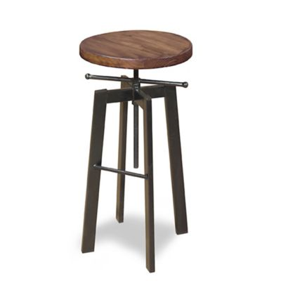 Progressive Furniture Austin Adjustable Stool in Pine