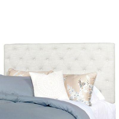 Progressive Furniture Tyler Queen Tufted Headboard in Ivory