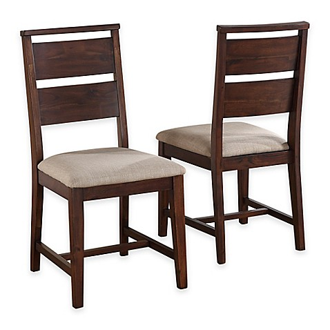 wood dining side chair in walnut set of 2 from bed bath beyond