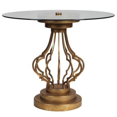 Uttermost Maya Accent Table in Gold