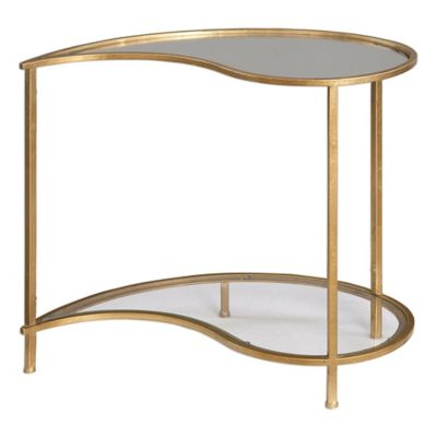 Uttermost Darcie Side Table in Gold