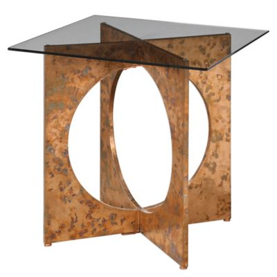 Uttermost Darry Accent Table in Copper