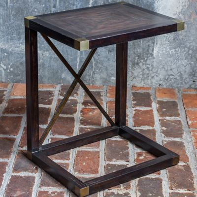 Uttermost Kendi Side Table in Dusty Black