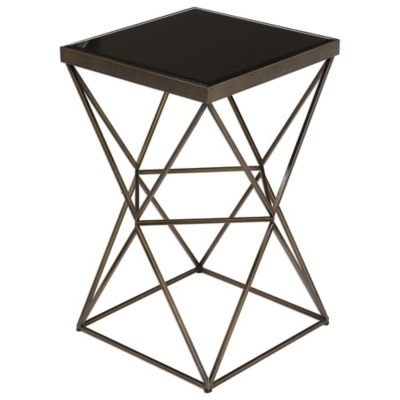 Uttermost Black Accent Table