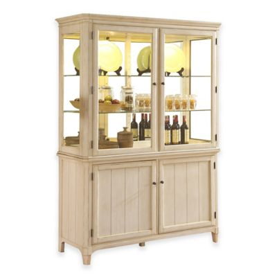 Panama Jack® Millbrook Display Cabinet in Buttermilk