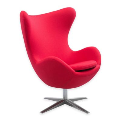 Zuo® Skien Arm Chair in Red