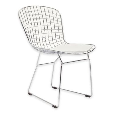 Modway CAD Wire Dining Side Chair in White