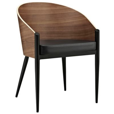 Modway Cooper Dining Armchair in Walnut
