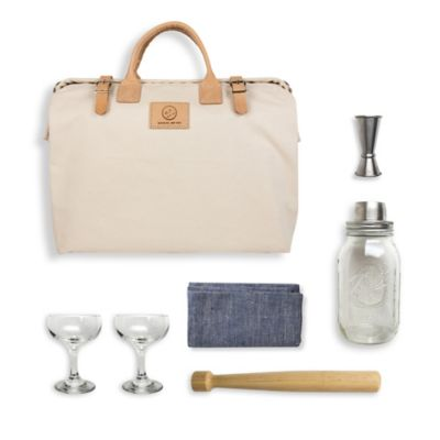 The Mason Shaker 8-Piece Cocktail Kit in White