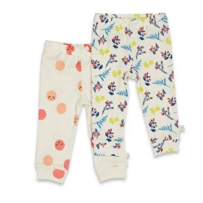 Rosie Pope® Sweet Lemons Size 0-3M 2-Pack Floral/Smiley Face Pull-On Pant in Multicolor