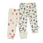 Rosie Pope® Sweet Lemons Size 6-9M 2-Pack Floral/Smiley Face Pull-On Pant in Multicolor