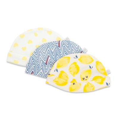 Rosie Pope® Size 3M Sweet Lemons 3-Pack Hats in Assorted Prints