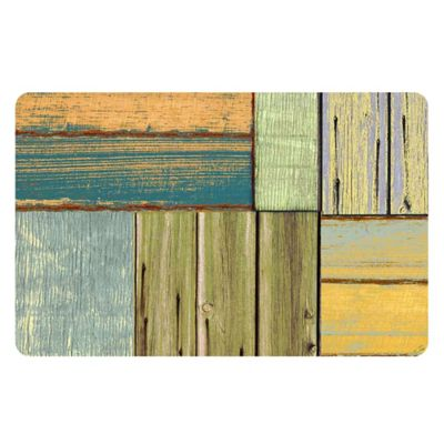 The Softer Side by Weather Guard™ 25-Inch x 60-Inch Patchwork Wood Kitchen Mat