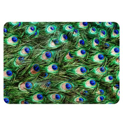 The Softer Side by Weather Guard™ 18-Inch x 27-Inch Peacock Plume Kitchen Mat