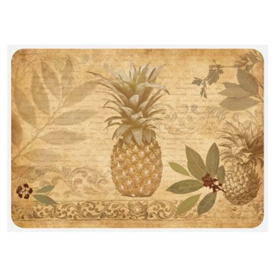 The Softer Side by Weather Guard™ 18-Inch x 27-Inch Pineapple Coast Kitchen Mat